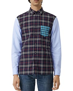 Burberry - Edward Patchwork Regular Fit Shirt