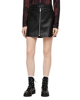 ALLSAINTS - Lena Zip-Front Leather Skirt