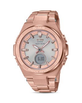 G-Shock - G-MS Rose Gold-Tone Watch, 38.4mm
