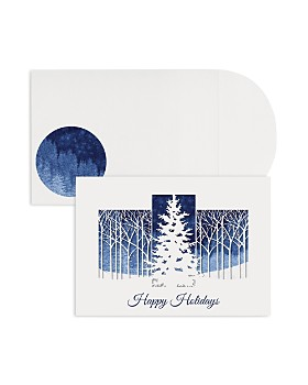 Masterpiece - Studios Treeline Laser Cut Holiday Cards, Box of 12