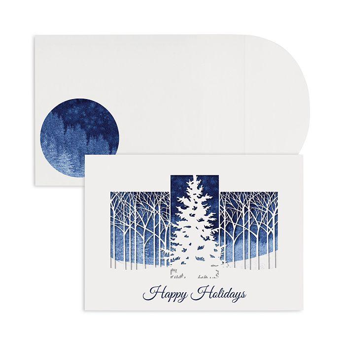 Masterpiece - Studios Treeline Laser Cut Holiday Cards, Box of 12
