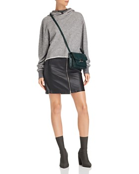 rag & bone/JEAN - Heidi Zip-Front Leather Skirt