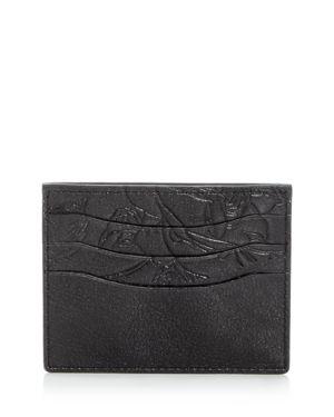 John Varvatos Star Usa Harrison Embossed Leather Card Case