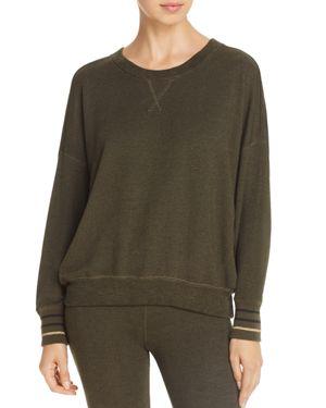 Sundry Striped-Cuff Sweatshirt