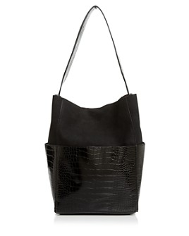 AQUA - Large Croc-Embossed Tote - 100% Exclusive