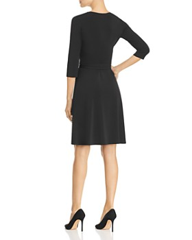 Leota - Perfect Wrap Three-Quarter Sleeve Dress