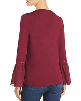 Design History - Studded-Trim Knit Top