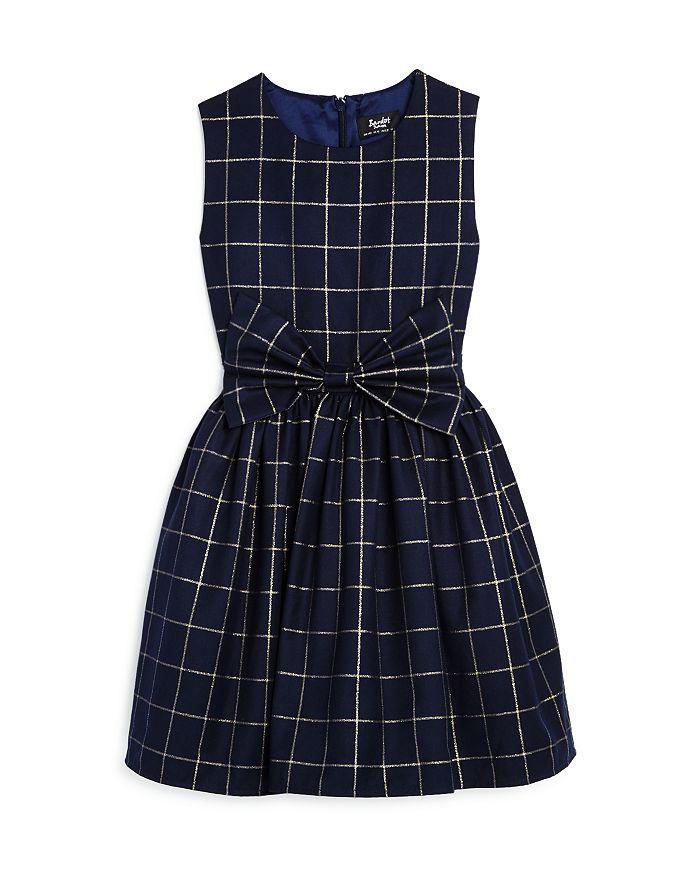 Bardot Junior - Girls' Metallic-Check Bow Dress, Little Kid - 100% Exclusive