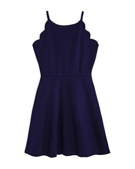 AQUA - Girls' Scalloped Skater Dress, Big Kid - 100% Exclusive