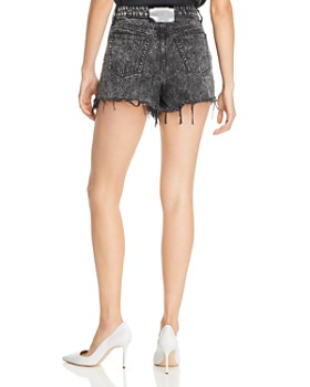 alexanderwang.t - Bite Denim Shorts in Gray Acid Wash