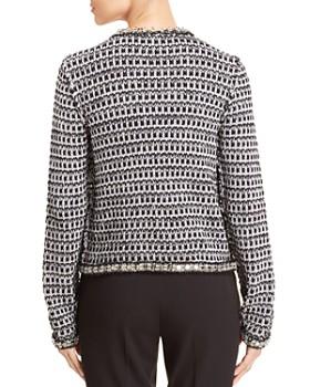 Tory Burch - Embellished Metallic Knit Jacket
