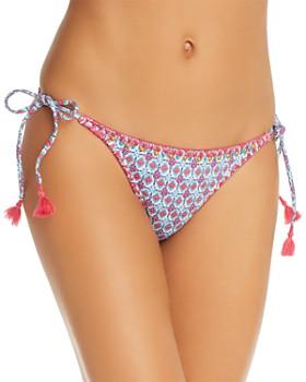OndadeMar - Embroidered String Tie Bikini Bottom
