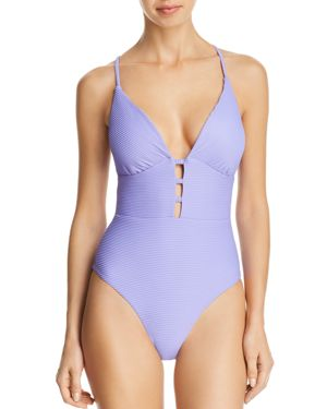 RED CARTER Riviera Sunset One-Piece Swimsuit in Purple