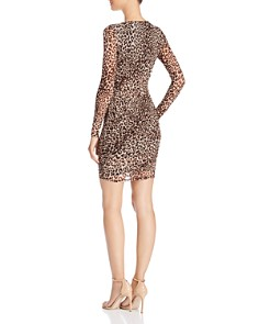 GUESS - Kinzie Ruched Leopard Print Dress