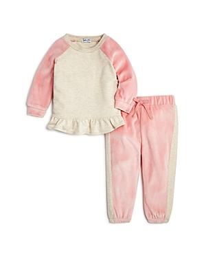 Splendid Girls Velour Ruffled Sweatshirt  Sweatpants Set  Baby