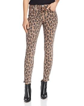 BLANKNYC - High-Rise Leopard Print Skinny Jeans in Catwalk