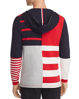 Tommy Hilfiger - Striped Relaxed Hooded Sweatshirt