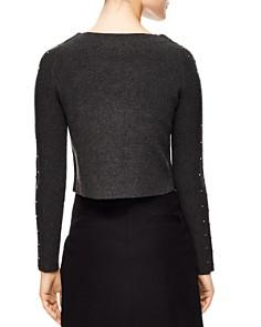 Sandro - Trône Embellished Cropped Sweater