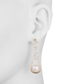Carolee - Pavé Crystal & Cultured Freshwater Pearl Drop Earrings