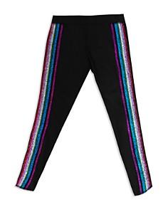 Terez - Metallic Rainbow Stripe Leggings - Big Kid