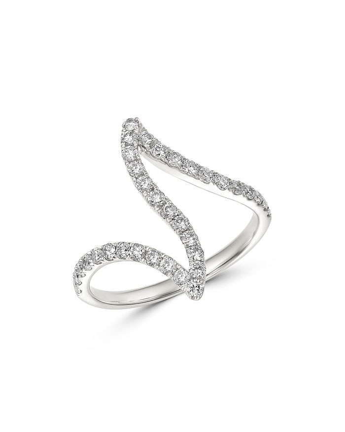 Bloomingdale's - Diamond Wave Ring in 14K White Gold, 0.60 ct. t.w. - 100% Exclusive