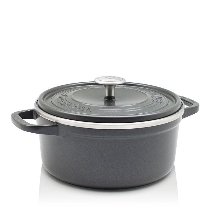 GreenPan - SimmerLite 5.5-Quart Cast Aluminum Ceramic Non-Stick Dutch Oven
