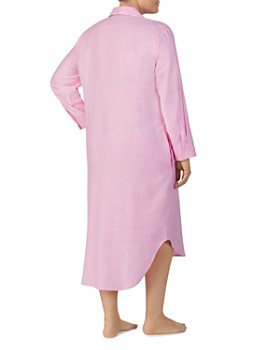 Ralph Lauren - Plus Brushed Twill Long Sleepshirt