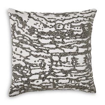 """Donna Karan - Luna Beaded Decorative Pillow, 16"""" x 16"""""""