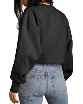 Champion - Raw-Edge Cropped Sweatshirt