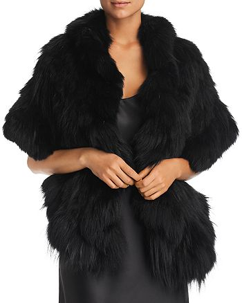 Maximilian Furs - Ruffled Fox Fur Knit Stole