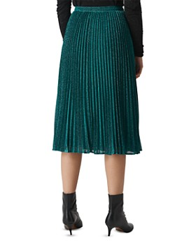 Whistles - Pleated Sparkle Skirt