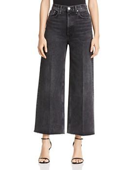 rag & bone/JEAN - Haru High-Rise Wide-Leg Jeans in Asa