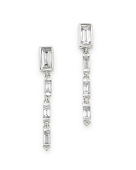 Bloomingdale's - Diamond Baguette Linear Drop Earrings in 14K White Gold, 0.35 ct. t.w. - 100% Exclusive