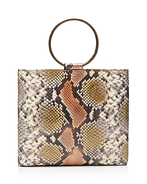 Thacker LE POUCH MEDIUM EMBOSSED PYTHON PRINT CROSSBODY