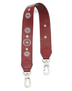Longchamp - Embroidered Leather Shoulder Strap