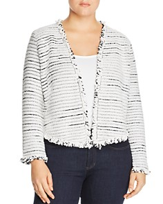 NIC and ZOE Plus - Planetary Mix Metallic Fringe Jacket