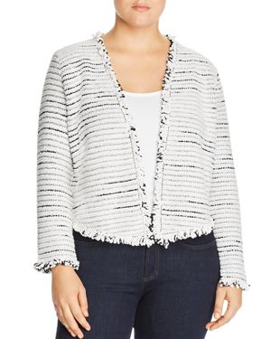 Nic+Zoe Plus Planetary Mix Metallic Fringe Jacket