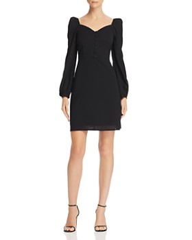 En Créme - Puff-Sleeve A-Line Dress