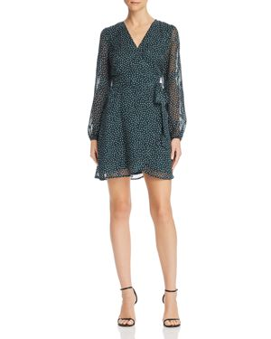SAGE THE LABEL Sage The Label Layla Polka Dot Wrap Dress in Teal