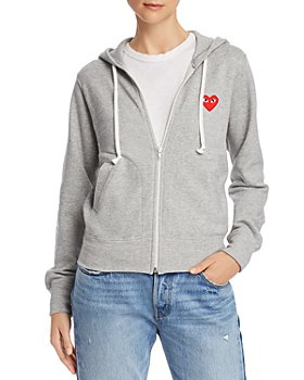 Comme Des Garcons PLAY - Red Heart Zip-Front Hoodie