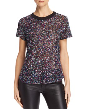 Parker - Anna Semi-Sheer Embellished Top