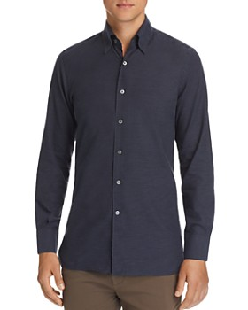 Canali - Brushed Micro-Herringbone Sport Shirt
