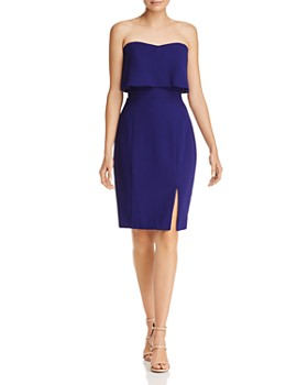 AQUA - Strapless Crepe Dress - 100% Exclusive