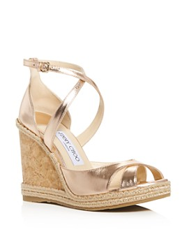 Jimmy Choo - Women's Alanah 105 Crisscross Wedge Sandals