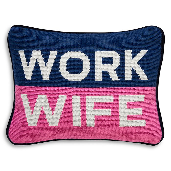"Jonathan Adler - Work Wife Decorative Pillow, 9"" x 12"""