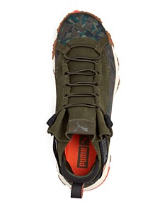 PUMA - Men's Trailfox Camo & Suede Low-Top Sneakers