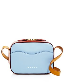 Marni - Small Color-Block Leather Shell Bag