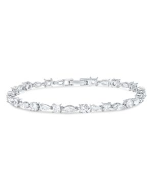 CRISLU Celebration Bracelet In Platinum-Plated Sterling Silver