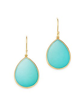 IPPOLITA - 18K Yellow Gold Rock Candy Turquoise Drop Earrings