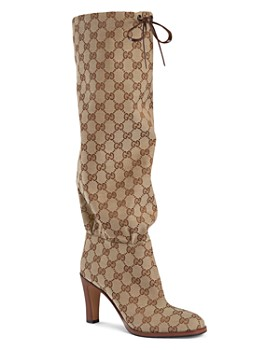 6e10b4b26 Gucci - Women's Lisa GG Canvas Mid-Heel Boots ...